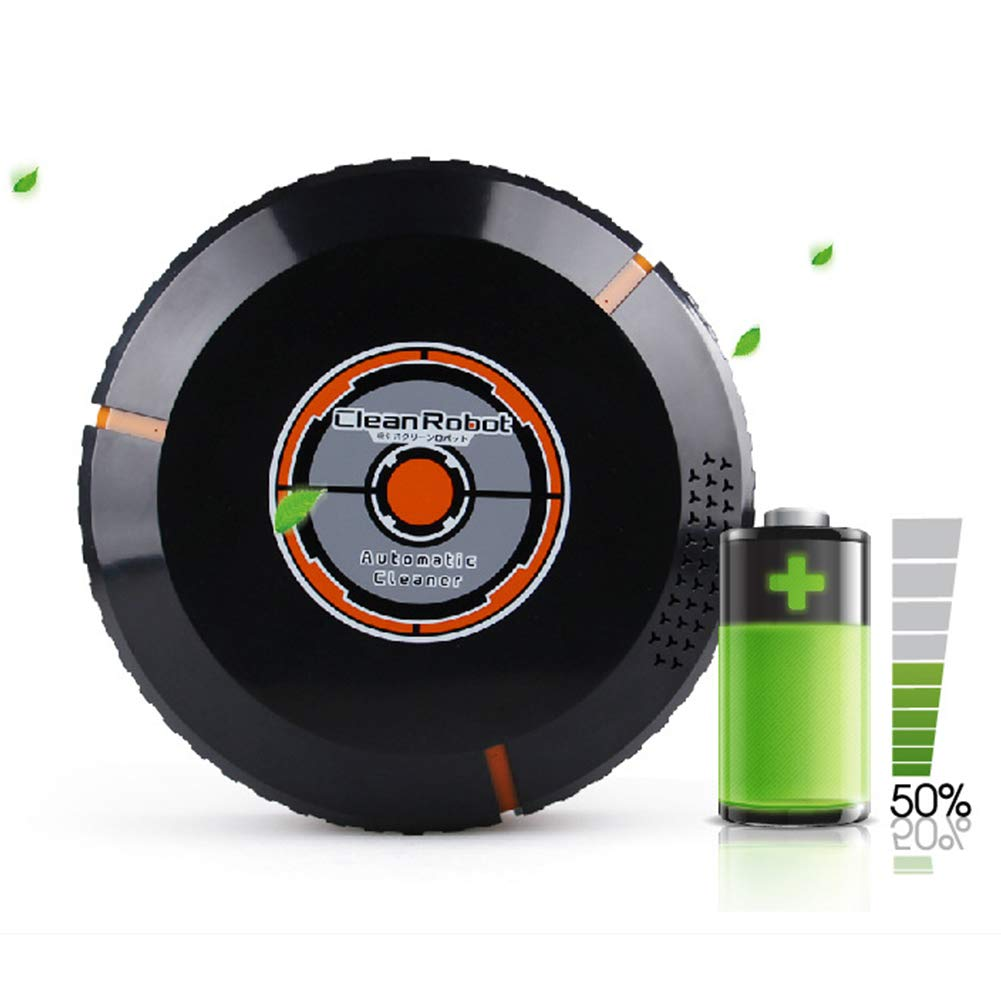 Robotic Vacuum Cleaner, with Mop and Water Tank High Suction, Super Thin, Extremely Quiet, Upgraded Auto Charging/Strong Suction/Infrared Sensor/Drop Sensing Sweeping Mopping (Black) by Carole4 (Image #1)