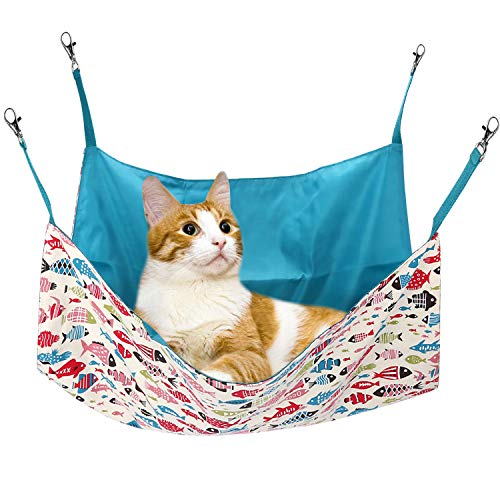 PERSUPER Cat Hammock Small Pet Hammock for Ferret, Rat, Rabbit, Small Dogs or Other Pet - Easy to...