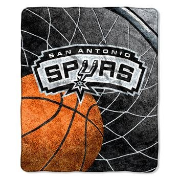 """The Northwest Company Officially Licensed NBA San Antonio Spurs Reflect Sherpa on Sherpa Throw Blanket, 50"""" x 60"""""""