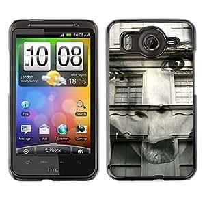 TopCaseStore / la caja del caucho duro de la cubierta de protección de la piel - Distorted Abstract Girl Black White - HTC G10