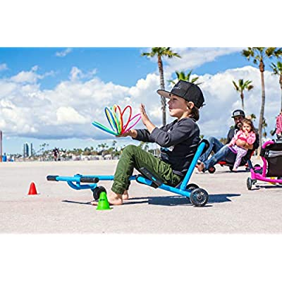 EzyRoller Classic - Black - Ride On for Children Ages 4+ Years Old - New Twist on Scooter - Kids Move Using Right-Left Leg Movements to Push Foot Bar - Fun Play and Exercise for Boys and Girls: Sports & Outdoors