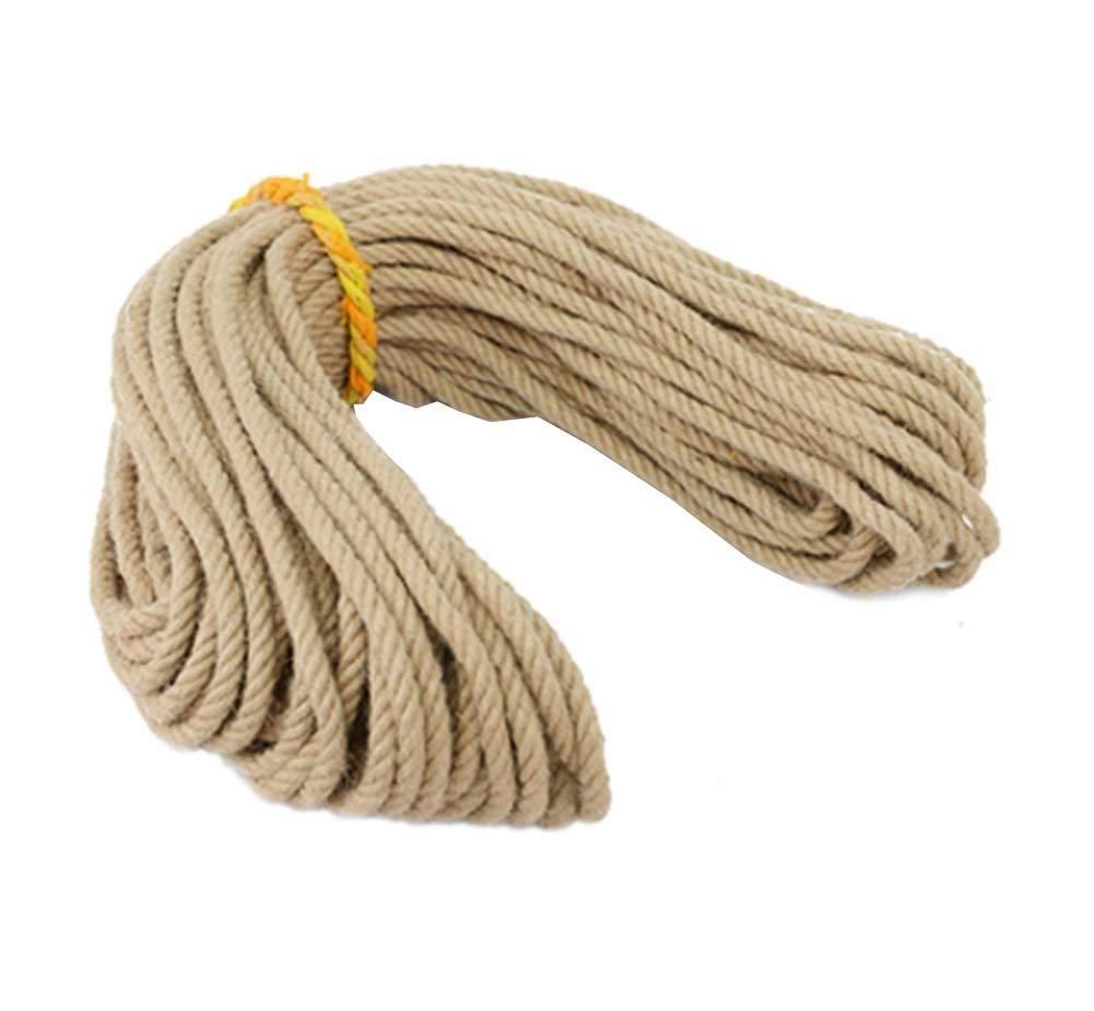 SWB Rope Corda di Iuta Corda di Iuta Naturale Forte 98 Piedi 10 mm di Corda di Canapa Artigianato Imballaggio Decorativo Etichetta Fai da Te
