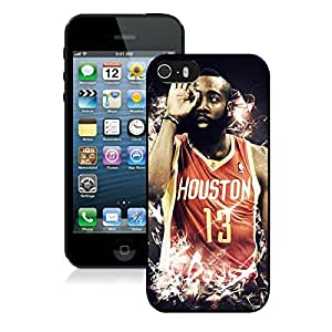 Popular iPhone 5 5S Case ,Unique And Lovely Designed With Houston Rockets James Harden 4 Black iPhone 5 5S High Quality Cover