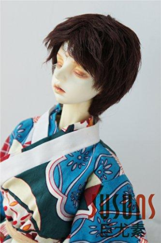 JD213 Handsome Boyish Mohair BJD Wigs YOSD MSD SD Doll Accessories (Dark Brown, 8-9inch)