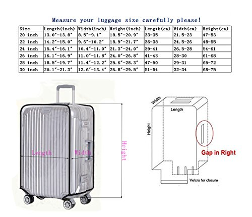 "Luggage Protector Suitcase Cover PVC Bag Dust proof Travel Suitcase Fits Most 20"" to 30""(22"")"