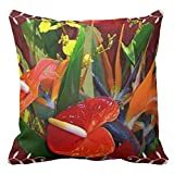 Ntpclsuits Hawaiian Floral American Mojo Home Decor Pillow Cover for Girls Throw Pillowcase Dorm Room Decor Throw Pillows for Couch 18 x 18
