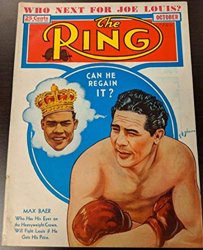 1940 Magazine - 1940 The Ring Boxing Magazine October Joe Louis Max Baer G/VG 51196