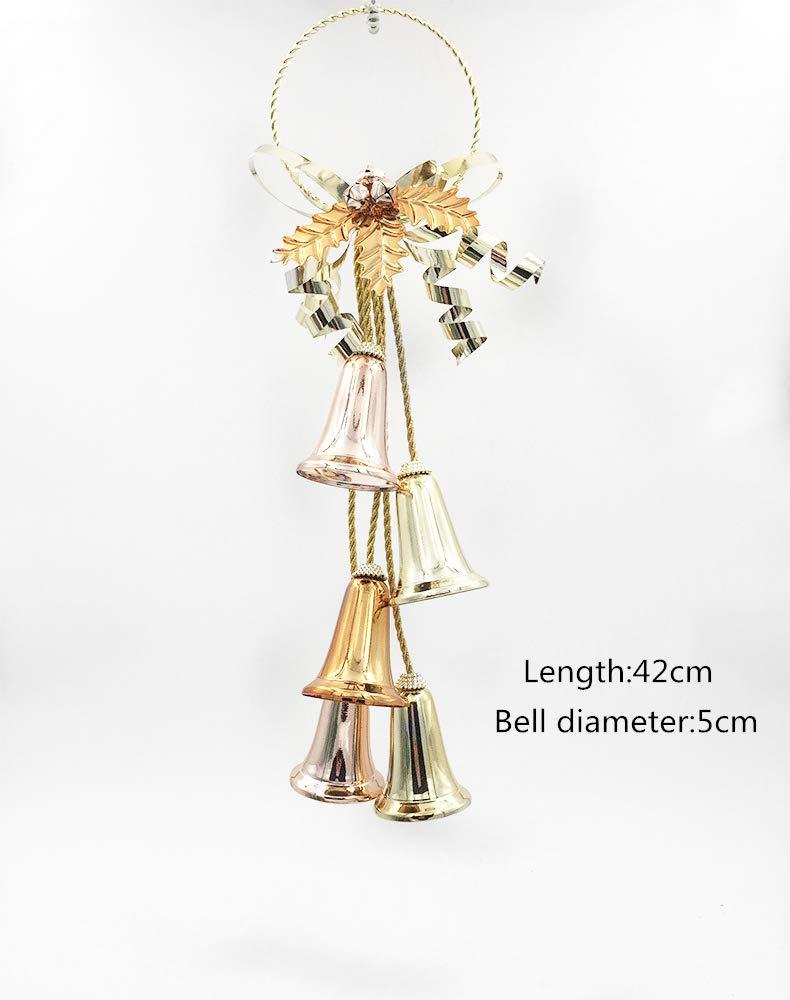 BOSSTER Natale Appeso Campane Metallo Campanelle Decorazioni per Albero di Natale per Vacanza Kit Artigianali e Rifornimenti di Natale