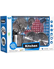 Xingxing Yuan Stainless Steel Kitchen Set Toy For Kids - 9 Pieces