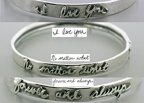 Sterling Silver Handwriting Bangle Bracelet