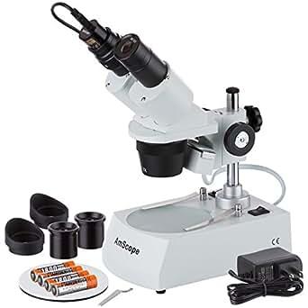 AmScope SE305R-PX-LED-E 5X-10X-15X-30X Inal-mbrico LED Microscopio est-reo, c-mara