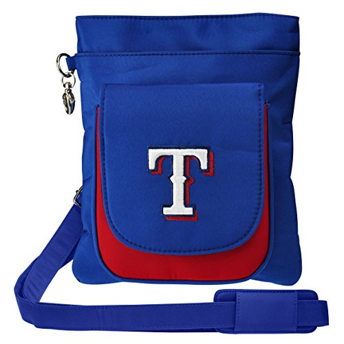 Charm14 MLB Texas Rangers Crossbody Purse-Handbag-Travel (Rangers Texas Bag)