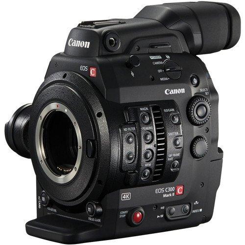 Canon Cinema EOS C300 Mark II Camcorder Body with Dual Pixel CMOS AF (EF Lens Mount) International Model Base (C300 Camera)