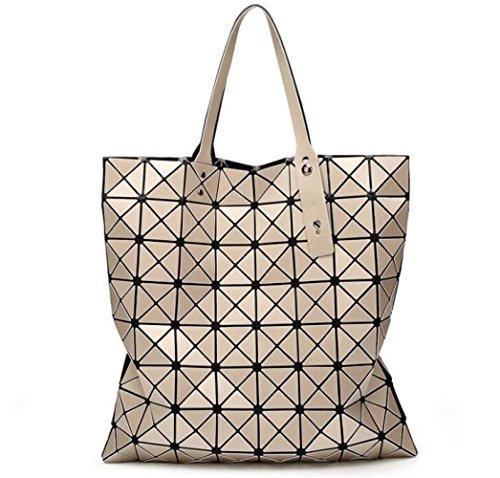 8 Main WLFHM Coutures Printemps 8 à Sacs Et Pliage Sacs Mat Géométriques Sacs été à Bandoulière Brown Sacs w0qa4