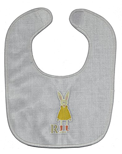 Caroline's Treasures Alphabet Baby Bib, R for Rabbit, Large