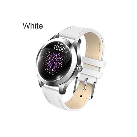 KW10 Pulsera inteligente Correa de acero Reloj pulsera Pulsera ...