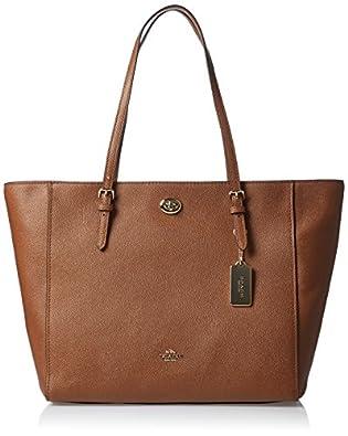 f5cf884e792b ... order coach turnlock leather tote brown d9665 591b9