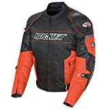 Joe Rocket Resistor Men's Mesh Motorcycle Jacket (Orange/Black, XXX-Large)