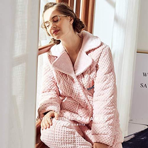 Hogar Mujeres Y color Sleepwear Tamaño Home Pijamas Franela Para Cálida Rosa 170 Conjunto Ropa Cm Invierno Gruesa El Rosado Dulce De xX64q8nXp