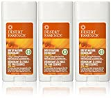 Desert Essence, Dry By Nature Deodorant, Aluminum Free, 2.5-Ounces (Pack of 3)
