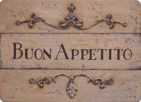Andrew's Tischset Platzset Buon Appetito 1 Stk. mit Korkboden und Melamin-Beschichtung