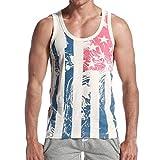 Jiayit Men Men's America Flag Tank Top Summer Vest Fashion Outdoor Hiking Holiday Sport Vests Streetwear Tank Tops Blouse T-Shirt