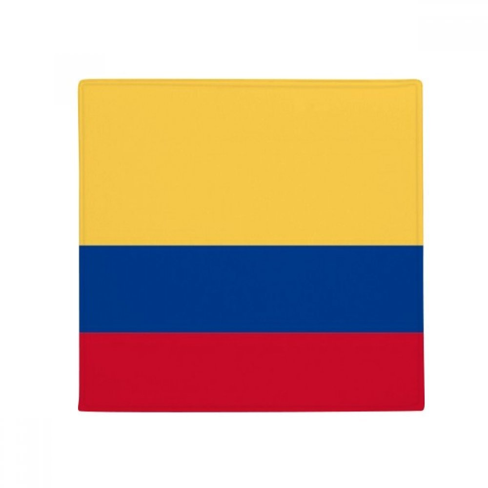 60X60cm DIYthinker Colombia National Flag South America Country Anti-Slip Floor Pet Mat Square Bathroom Living Room Kitchen Door 60 50Cm Gift