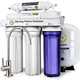home drinking water purification iSpring RCC7 High Capacity Under Sink 5-Stage Reverse Osmosis Drinking Water Filtration System and Ultimate Water Softener- WQA Gold Seal Certified