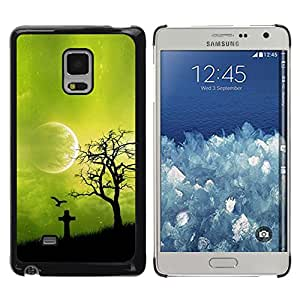 Shell-Star Arte & diseño plástico duro Fundas Cover Cubre Hard Case Cover para Samsung Galaxy Mega 5.8 / i9150 / i9152 ( Night Green Moon )