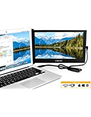 """SideTrak Portable USB Monitor 12.5"""" Screen - Attaches to Your Laptop for Easy Travel - Efficient USB Power - Compatible with Mac, PC, Chromebook 13""""-17"""" Laptops 