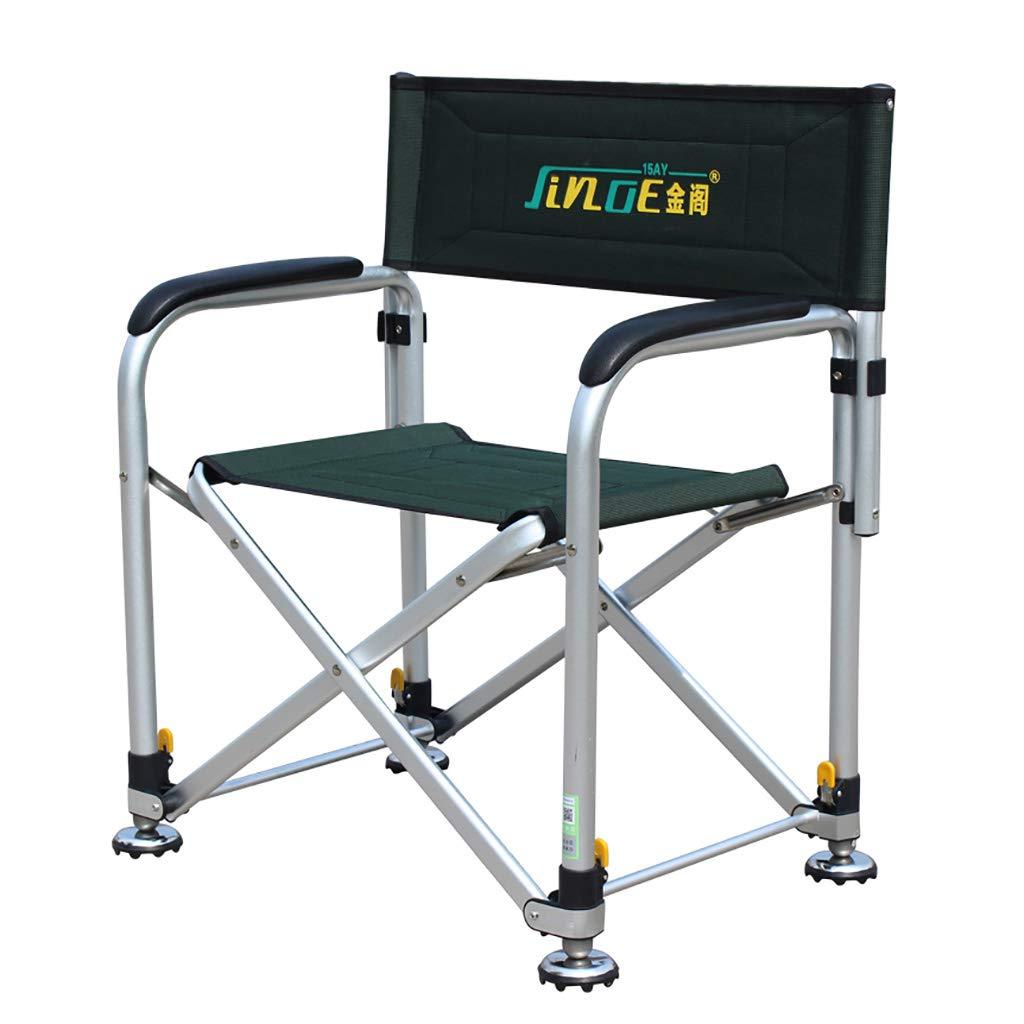 携帯用釣り椅子折りたたみ頑丈なキャンプリクライニングチェア椅子調節可能な足のコイ釣り道具 360*560*660mm  B07PD2QGPB