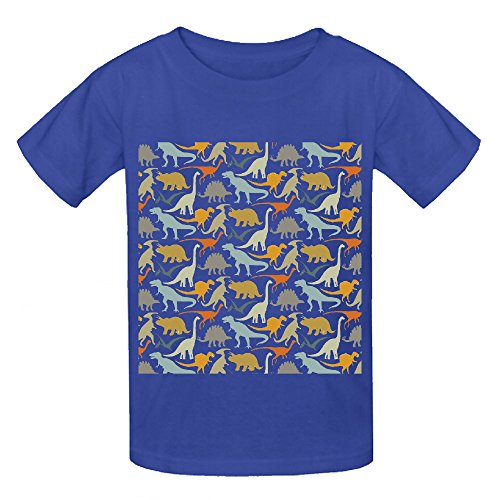 Dinosaur Friends Unisex Crew Neck Customized T Shirts Blue (Rodeo Clown Outfit)