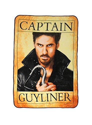 Once Upon A Time Hook Captain Guyliner Throw Blanket (Hook From Once Upon A Time)