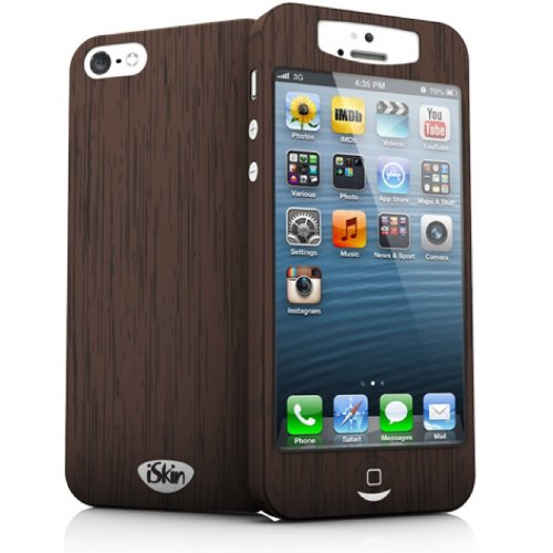 iSkin UBSLM5-WOD Uber Slim Case for iPhone 5 - Retail Packaging - Wood ()