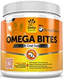 omega 3 soft chews for dogs - Omega 3 Alaskan Fish Oil Chew Treats for Dogs - With AlaskOmega for EPA & DHA Fatty Acids - For Shiny Coats & Itch Free Skin - Natural Hip & Joint Support + Promotes Heart & Brain Health - 90 Count
