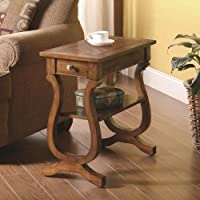 CDecor Roseburg Cherry Chairside End Table