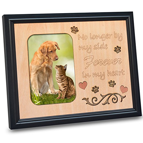 PETAFLOP Pet Memorial Picture Frame 4x6 Photo Frames for Beloved Dog or Cat - Cats Dogs Pictures