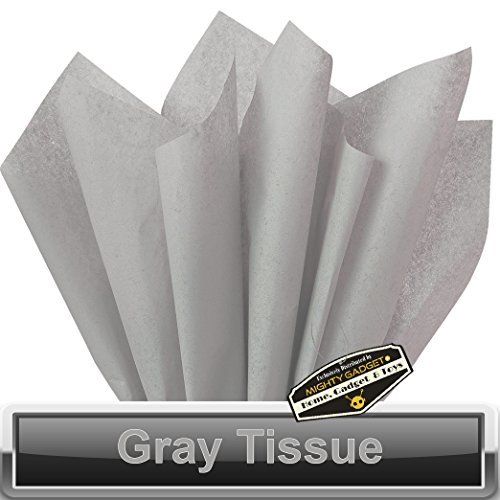 200 pc Mighty Gadget (R) Gray Tissue Wrapping Paper – 15″ x 20″