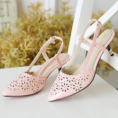 LvYuan Tacón Stiletto-Zapatos del club-Sandalias-Oficina y Trabajo Vestido Informal-PU-Negro Rosa Rojo Green