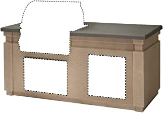 product image for 430 Glass Fiber Reinforced Concrete Pre-Fab Island w/ 2 Drawer Cut-Out