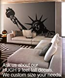 Vinyl Wall Art Decal Sticker Statue of Liberty Huge (BLACK color) 8ft X 5ft #122