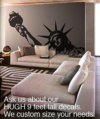 Marvelous Vinyl Wall Art Decal Sticker Statue Of Liberty Huge (BLACK Color) 8ft X 5ft
