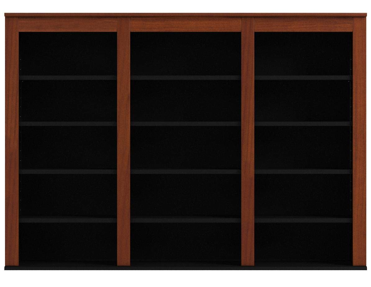 Prepac Triple Wall Mounted  Storage Cabinet, Cherry and Black by Prepac