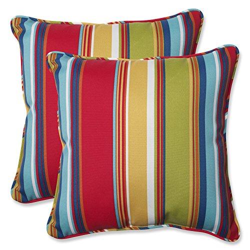 (Pillow Perfect 564210 Outdoor Westport Throw Pillow, Set of 2, 18.5
