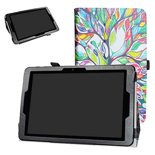 ZTE ZPad 10 Inch Tablet Case,Bige PU Leather Folio 2-Folding Stand Cover for 10.0