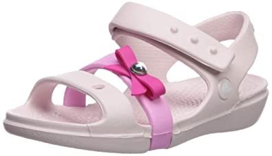 f837cb01e Crocs Girls  Keeley Charm Sandal Mary Jane Flat Barely Pink 4 M US Toddler