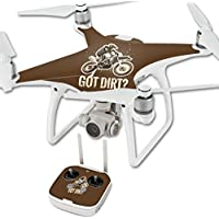 Skin For DJI Phantom 4 Quadcopter Drone – Got Dirt | MightySkins Protective, Durable, and Unique Vinyl Decal wrap cover | Easy To Apply, Remove, and Change Styles | Made in the USA