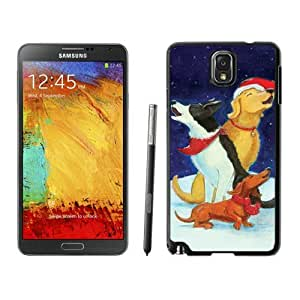 Personalization Christmas Dog Black Samsung Galaxy Note 3 Case 42