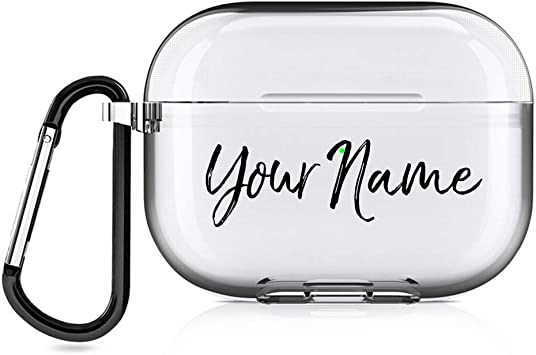 Amazon Com Custom Airpods Pro Case Clear Hard Diy Personalized Custom Text Case Make Design Your Own Airpods Pro 3 Case Airpods Pro Clear Home Audio Theater