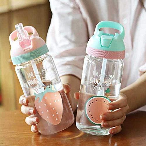 520ML Baby Cup Mit Deckel Tragbare Outdoor-Sportreiseschule Verwenden Sie Eine Süße Wassertrinkflasche Für Kinder, Die Wasser Trinken. Geburtstagsgeschenk Blau
